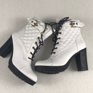 White Boots Size 8 G by Guess Brand